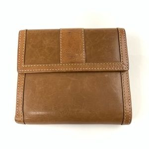 Coach Womens Bifold Wallet Solid Brown Leather